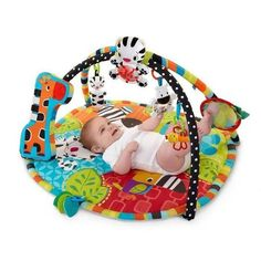 Bright Starts Start Your Senses Safari Activity Gym, Spots and Stripes (Older Version) (Discontinued by Manufacturer) Safari, Frases Love, Baby Sense, Gym Mats, Baby Bunting, Play Gym, Developmental Toys, Wishes For Baby, Baby Development