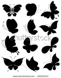 Find Butterflies Design Vector stock images in HD and millions of other royalty-free stock photos, illustrations and vectors in the Shutterstock collection. Thousands of new, high-quality pictures added every day. Stencil Art, Stencil Designs, Paint Designs, Stencils, Butterfly Template, Butterfly Design, Creative Wall Painting, Crochet Patron, Butterfly Drawing