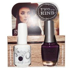 """Harmony Gelish & Morgan Taylor - Two of a Kind Duo - """"Plum Tuckered Out"""""""