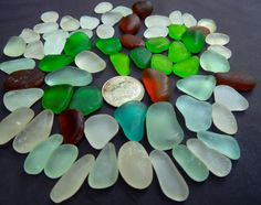 I found these pieces of sea glass on a beach in Hawaii this week and now I offer them to you via my Etsy shop, SeaGlassFromHawaii. Sixty jewelry grade pieces, only $26 - they won't last long! Double click the photo and you will land there.
