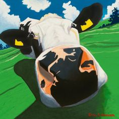 Eoin O'Connor.... Dizzy Cow.  This is hanging in my kitchen :)
