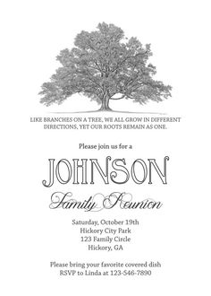 Printable Family Reunion Booklet Flyers Invitations