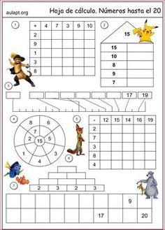 Vier-Tage-Mathe-Training (Zahlenraum bis – Rebel Without Applause Montessori Math, Preschool Math, Teaching Math, Kids Math Worksheets, Math Resources, Preschool Activities, 1st Grade Math, Math Facts, Math For Kids