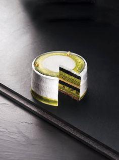 Uji Matcha and Black Sugar Charcoal Cake