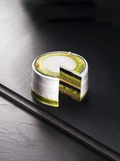 Uji Matcha and Black Sugar Charcoal Cake
