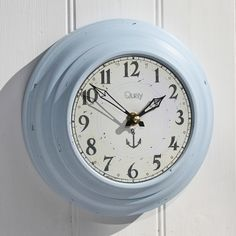$24.00-7.5 Quay Clock | Tin Clock | Vintage Clock | Wall Clocks | Metal Clock - buy the sea