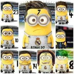 Minion Real Madrid,ahaahahaha :D Real Madrid Players, Real Madrid Football, Minions, Good Soccer Players, Football Players, Neymar, Real Madrid Shirt, Cristiano Ronaldo 7, Premier League