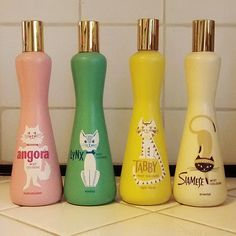 Meow •~• drugstore perfume, 1960s (I've never seen these before... love! ~ Heather)