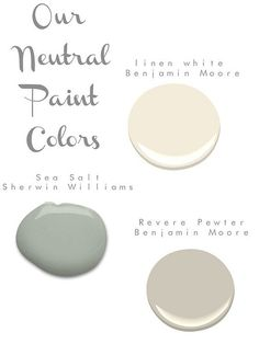 Bright neutral paint colors by Benjamin Moore and Sherer Williams - # . - Bright neutral paint colors by Benjamin Moore and Sherer Williams – # Paint colo - Neutral Paint Colors, Paint Color Schemes, Interior Paint Colors, Paint Colors For Home, Wall Colors, House Colors, Gray Paint, Interior Painting, Revere Pewter Coordinating Colors