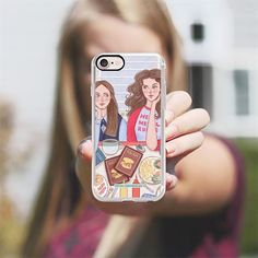 Gilmore Girls in Lukes Diner - TV Show Food Coffee Illustration by Rachel Corcoran - Rachillustrates - Classic Grip Case