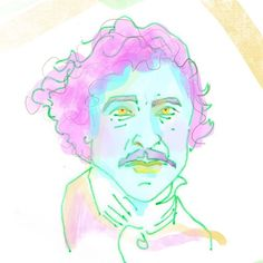 my take in the fantastic Gene Wilder 100th Day, Pink Hair, Insta Art, Movie Stars, The 100, Illustration, Face, Artist, Projects