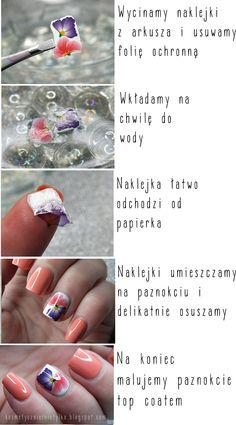 Naklejki wodne- prosty sposób na ozdobienie paznokci