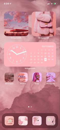 iOS 14 update Home Screen aesthetic- pink
