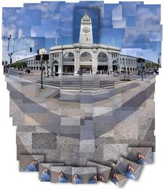 This is my favorite David Hockney cubism photo because it shows the sky, the subject(building) and the ground all at once. The pictures also fit together very well and create a nice picture of a building. It includes leading lines and pattern. Glitch Art, Photomontage, David Hockney Joiners, David Hockney Photography, Photography Projects, Art Photography, Collage Kunst, Atelier Photo, Desing Inspiration
