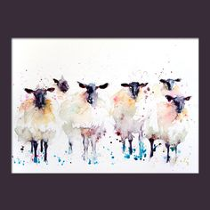 This is a limited edition (only 250 will be produced in each size) print of my original watercolour painting black faced sheep. I sign and number each print individually on the front and sign and date on the reverse and place in a cellophane bag. The print comes unmounted and unframed, ready for you to add a mount and frame of your choice.