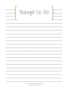 Mark off all your important tasks as you do them using this to do ...