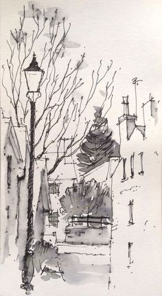 paisaje urbano 99 Inspiring and Easy Cool Things to Draw for Architects by Architects Pen And Watercolor, Watercolor Landscape, Sketch Painting, Architecture Drawings, Quick Sketch, Urban Sketching, Art Sketchbook, Cool Drawings, Art Sketches