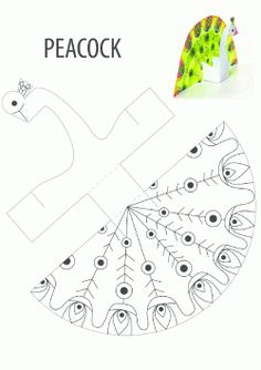 peacock crafts for kids Projects For Kids, Diy For Kids, Crafts For Kids, Arts And Crafts, Peacock Crafts, Peacock Bird, Peacock Print, Paper Animals, Printable Crafts