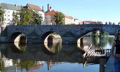 Old Stone Bridge in Pisek Town