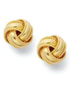 Giani Bernini 24k Gold Over Sterling Silver Earrings, Small Love Knot Stud Earrings
