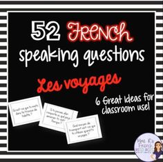 Want to get your French students using their travel vocabulary? Need help with a fun way to encourage your intermediate to advanced students to speak more ?This NO PREP activity is always a favorite in my class.It can be used after learning specific vocabulary or as a fun interactive activity on a day when you need to change it up!