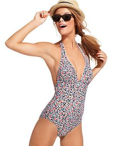 I'm thinking about something like this for summer. Never thought I'd be in a one-piece but HELLO mom tummy. I'm going to be in one for the rest of my life!