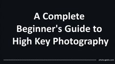 Always interested: how to make these high key photography images, so here is my…