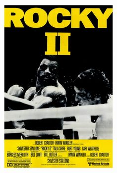 """Rocky 2"" (1979) Directed by Sylvester Stallone / starring Sylvester Stallone, Talia Shire, Burt Young & Carl Weathers"