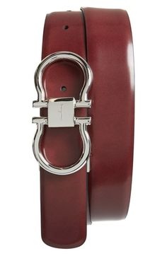 07dab448b7f Salvatore Ferragamo Reversible Belt available at  Nordstrom Black Leather  Belt
