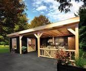 Terrasoverkapping | Carports | Blokhutten | Houten Veranda | Kapschuur | Prieeltjes | Houten Poorten | Sauna | Tuinmeubelen | Parasols | Buitenverblijf | Outdoor Cabins | Ook Maatwerk Mogelijk