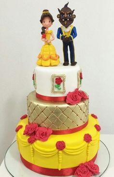 Cake Topper Disney La Bella Y La Bestia : La Bella y la Bestia, un clasico de Disney. Una tarta en ...