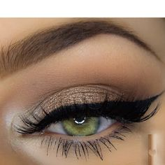 Shimmery nude eyeshadow paired with a perfectly defined winged liner will make you look like a star for your next formal. Check out the products needed to recreate this makeup.