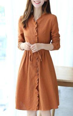 Lovely Dresses, Modest Dresses, Modest Outfits, Simple Dresses, Modest Fashion, Vintage Dresses, Casual Dresses, Girl Fashion, Fashion Dresses