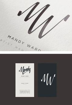 Mandy Ward Visual Identity by Matt Vergotis.  Would have been handy when I was Midge Worthen....
