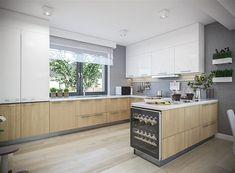 Projekt domu Tracja 3 117,19 m2 - koszt budowy 255 tys. zł - EXTRADOM Kitchen Island, Home Decor, Kitchens, Little Cottages, Island Kitchen, Decoration Home, Room Decor, Home Interior Design, Home Decoration