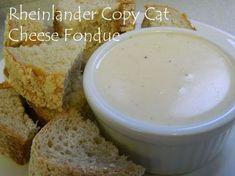 My Favorite Things: Rheinlander Copy Cat Cheese Fondue