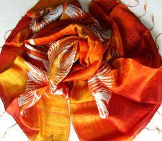 Silk shawl-Handwoven silk shawl-Hand by PlanetEarthHandmade
