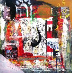 Gervásio Portico Manuelino  2014 Acrylic x Canvas 116 cm x 116 cm  #Art #Artist #Gervásio #Artworks #saomamede #Gallery #Color #Paintings #SãoMamedeArtGallery