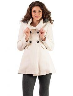 "Palton ""Hood Muse"" White Muse, Coat, Jackets, Fashion, Down Jackets, Moda, Sewing Coat, Fashion Styles, Peacoats"