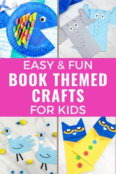 These children's book themed crafts for kids are so much fun! Perfect if you need easy and fun kids activities to inspire a love of books! If you need crafts for Children's Book Week or just children's book inspired activities to make learning at home fun, these ideas are perfect! Crafts inspired by books kids love, including Dr. Suess crafts! #kidscrafts #bookcrafts #kidsbookcrafts #childrensbookcrafts #childrensbookweek #kidactivities Indoor Activities For Kids, Fun Crafts For Kids, Craft Activities For Kids, Toddler Crafts, Preschool Activities, Kids Fun, Toddler Games, Summer Activities, Preschool Printables