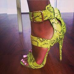 yellow #sandals #highheels