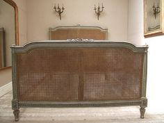 antique french bed | french vintage and antique cane beds french antique and cane beds in ...