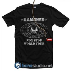 Non Stop World Tour 1980 Ramones T Shirt - Adult Unisex Size Tag a friend who would love this! Quote Tshirts, Funny T Shirt Sayings, Funny Tshirts, Ramones T Shirt, Non Stop, Band Tees, Hoodies, Sweatshirts, Fashion Addict