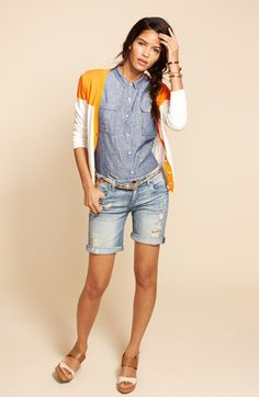 Orange Cardigan.  Caslon® V-Neck Cardigan | Nordstrom