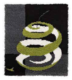 rug - ryijy - Peeled - Kuorittu 100 cm x 100 cm
