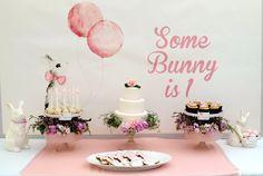 Bunny Backdrop | Some Bunny Is 1! A Very Hoppy Birthday Party | POPSUGAR Moms