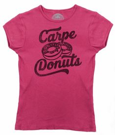 Women's Carpe Donuts T-Shirt - Funny Donut Shirt