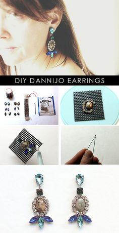 Make DIY Dannijo inspired rhinestone earrings - National DIY Fashion | Examiner.com