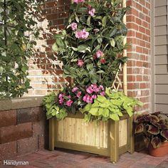 Bring plants and flowers to your deck or patio with this handsome, but easy-to-build planter and trellis. And use it as a privacy screen as well. Materials cost about $100 and you can build it in a weekend. Get the plans for this planter and trellis here.