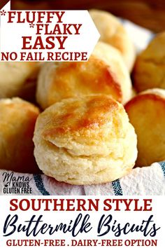 Easy Gluten-Free Easy Gluten-Free Biscuits Easy fluffy and flaky biscuits made in just minutes! This is tried and true, no fail recipe that makes perfect gluten-free biscuits every time. The recipe also has a dairy-free and vegan (egg-free) option. Dairy Free Bread, Dairy Free Snacks, Dairy Free Breakfasts, Keto Bread, Gluten Free Breads, Gluten Dairy Free, Gluten Free Dinner Rolls, Best Gluten Free Bread, Gluten Free Scones
